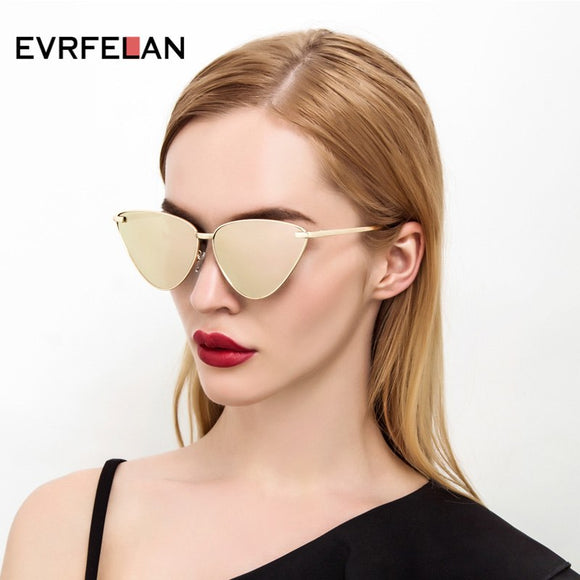 e676bb94b62 N Lady Cat Eye Sunglasses Fashion Women Vintage Wrap Metal Frame Clear  Lenses Sun Glasses For
