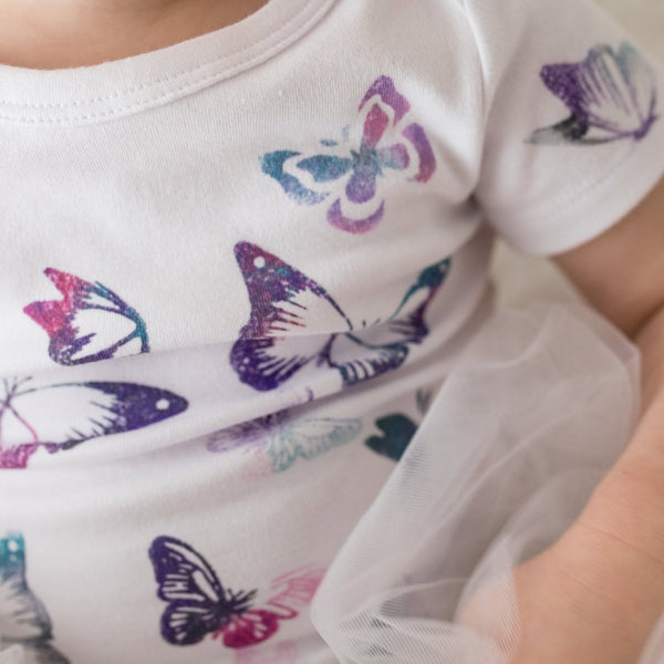 Fields of Flutter Onesies - My Lily-Ann - Handmade Children's Clothing