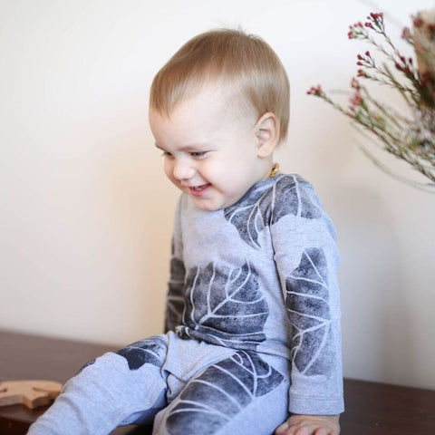 Black Forest Grey Onesies - My Lily-Ann - Handmade Children's Clothing
