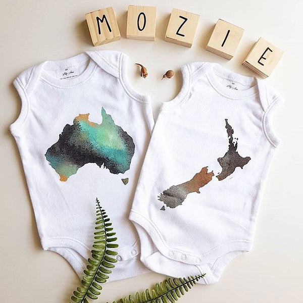 Zahause Map Onesies - My Lily-Ann - Handmade Children's Clothing