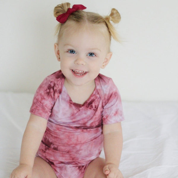 Burgundy Tie Dye - My Lily-Ann - Handmade Children's Clothing