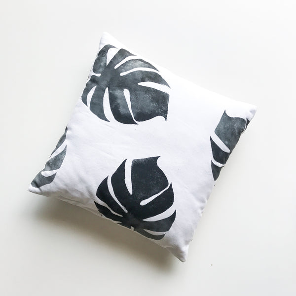 Monstera Cushion - My Lily-Ann - Handmade Children's Clothing