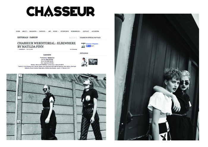 Chasseur Magazine featuring a custom Dress by CLON8,UK