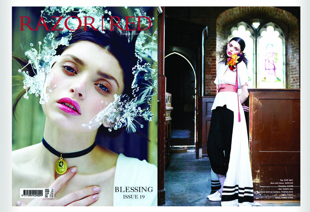RAZOR RED Magazine featuring CLON8 Trousers, Hong Kong