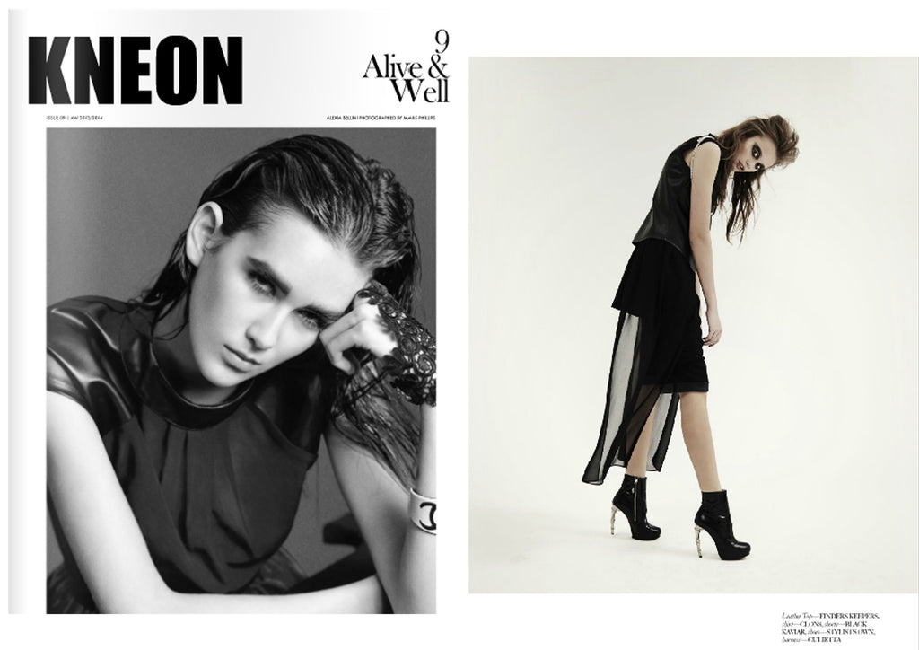 KNEON Magazine featuring CLON8 Top,UK