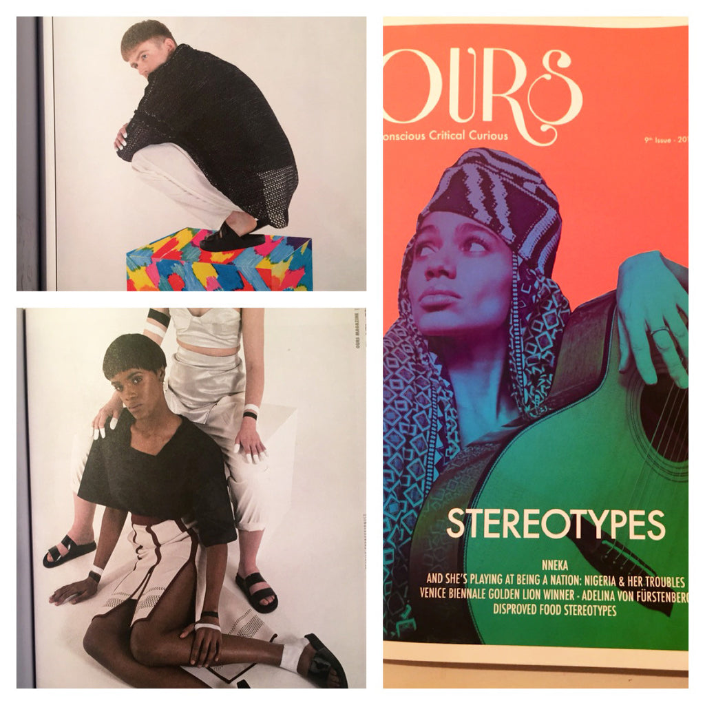 Ours Magazine, ISSUE 9, featuring CLON8 Trousers and T-Shirt,GENEVA-LONDON-LAGOS