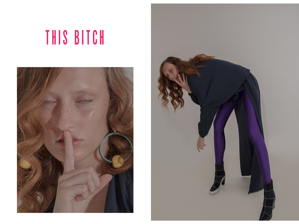 This Bitch Magazine featuring CLON8 Top and Trousers from Autumn Winter 2018 Collection