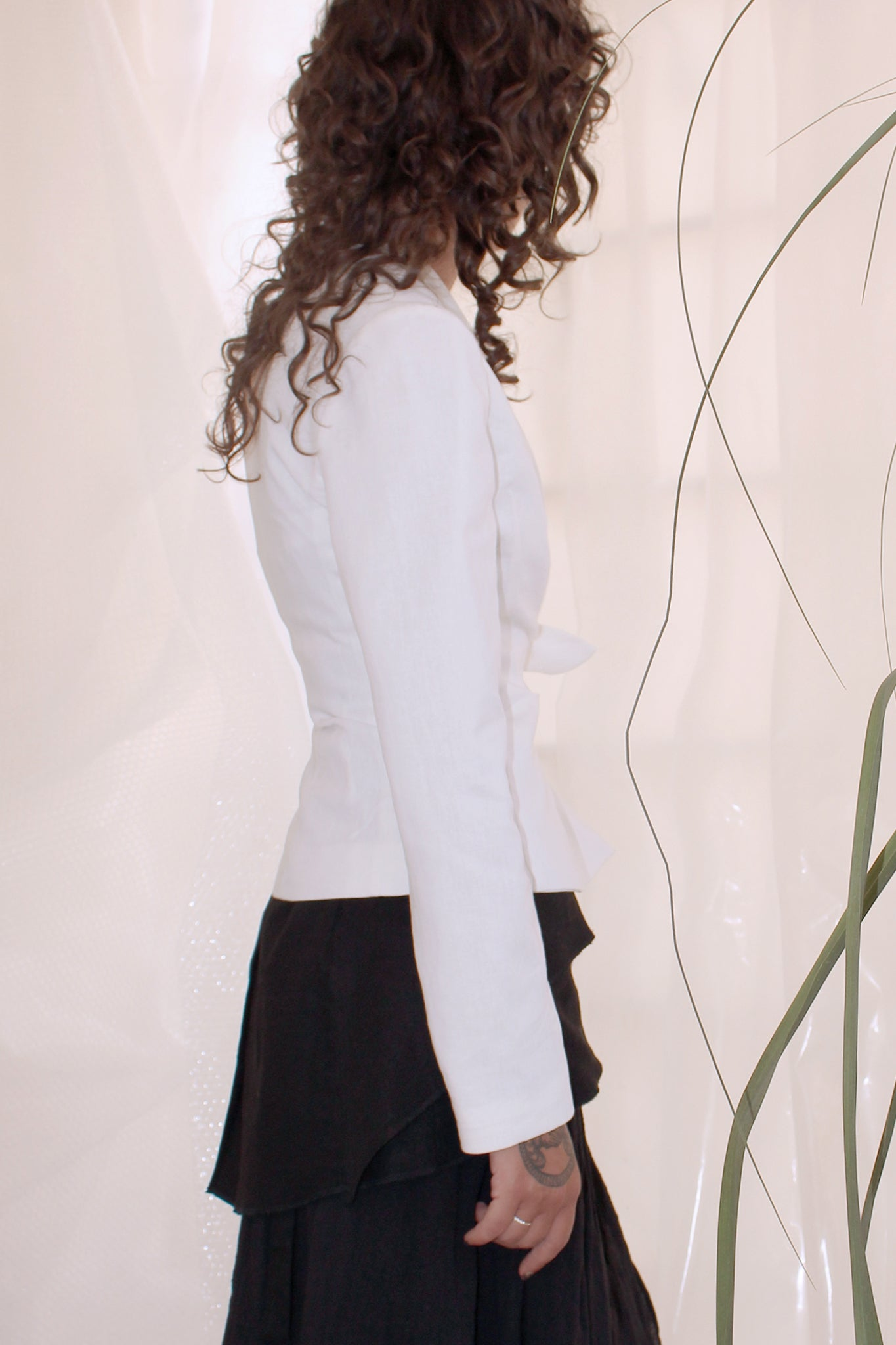 Shop CLON8 Grace Wrap Blazer White