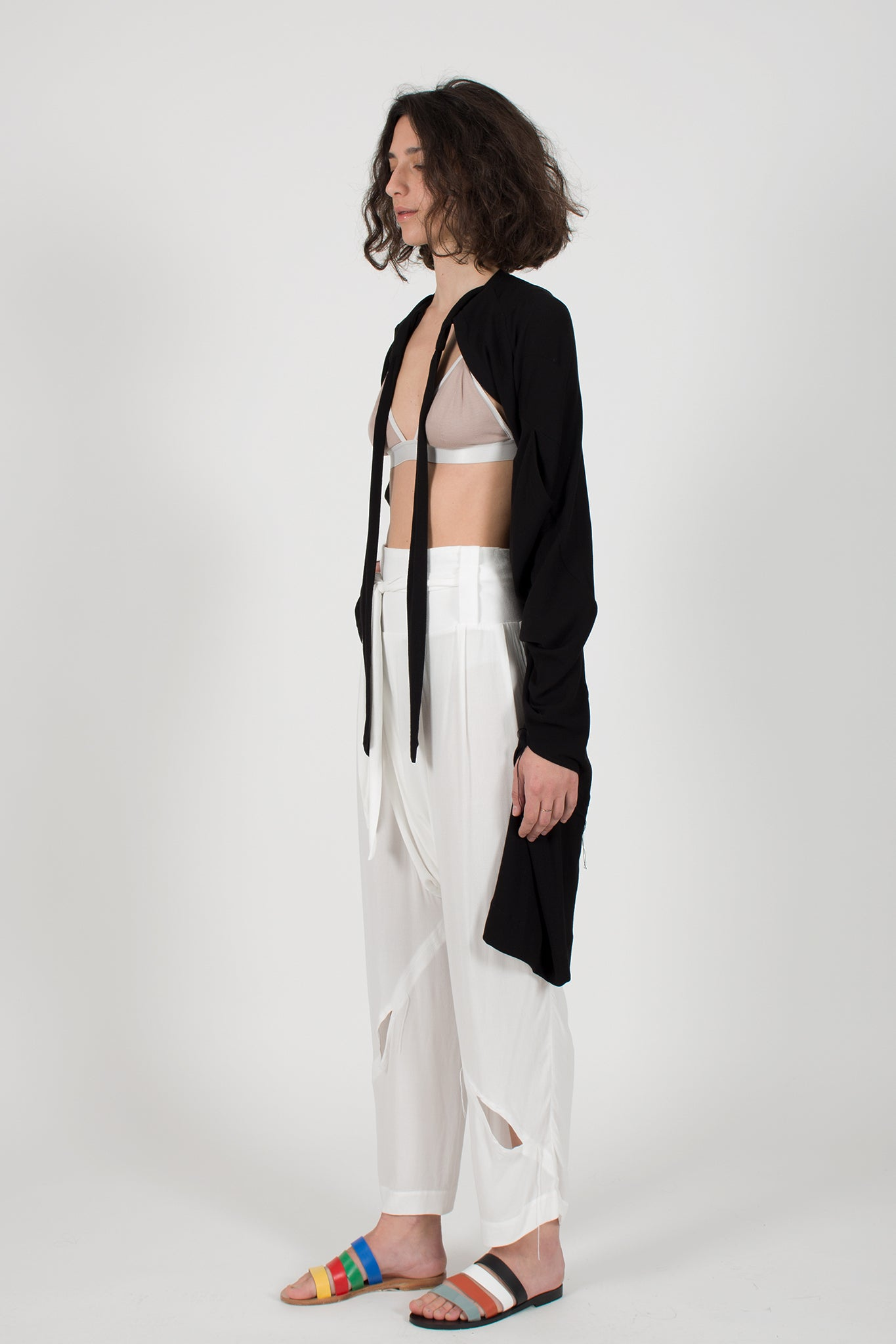 Shop CLON8 Slash Trousers Cardigan