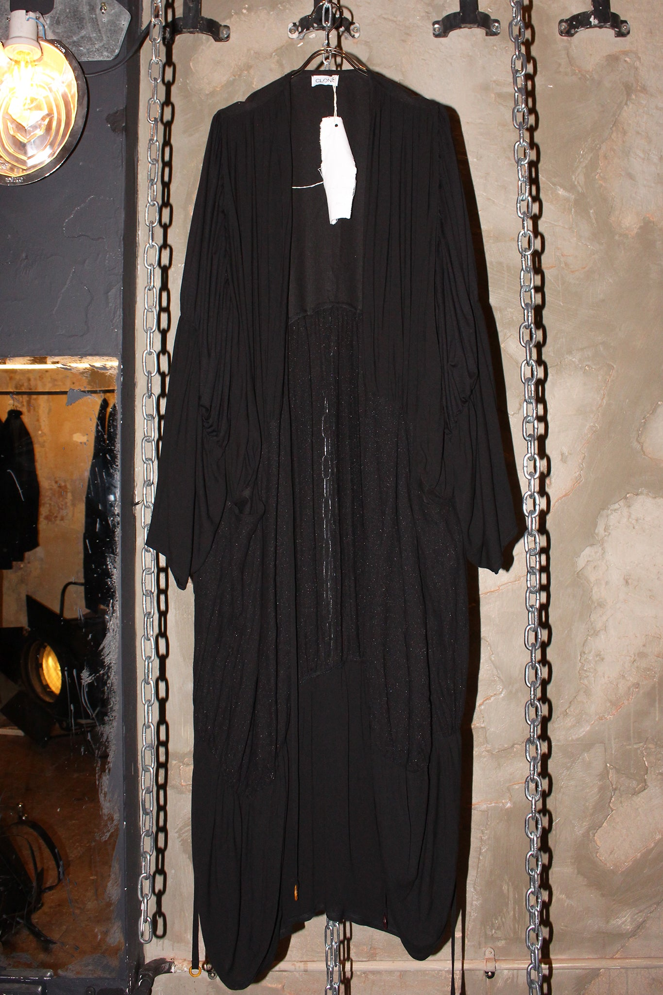 Shop CLON8 Wave Kaftan Black