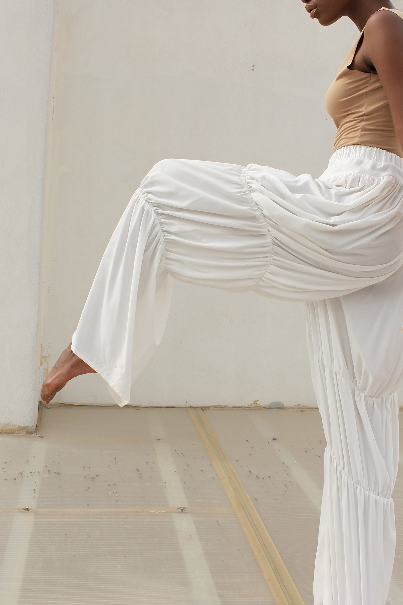 Shop CLON8 Wave Pull-On Pants White