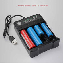 Load image into Gallery viewer, 3.7V 18650 Charger Li-ion battery USB