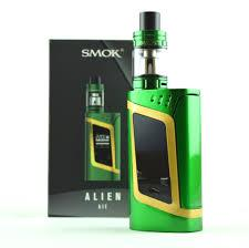 Smok alien 220w green gold kit - Vape norge