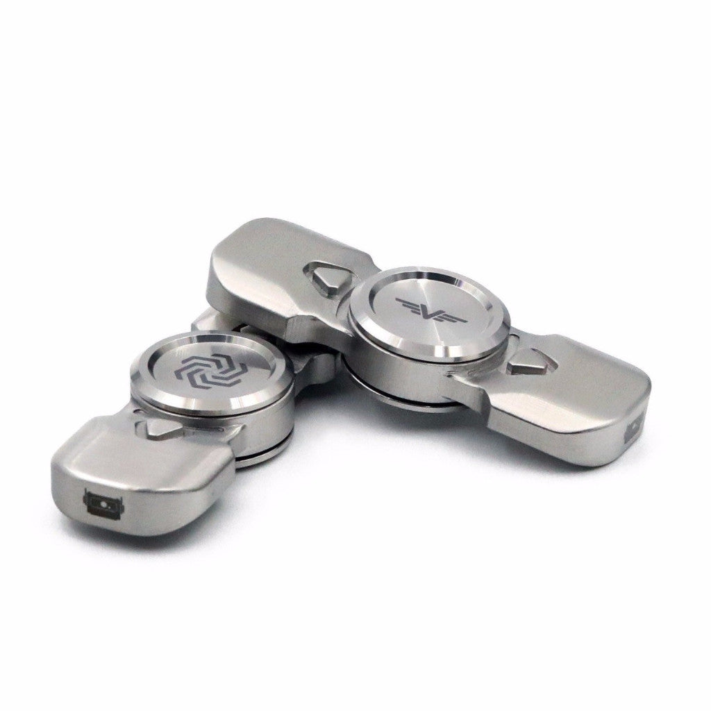 Valkyrie™ Stainless Steel Fidget Spinner by Alphabot Industries