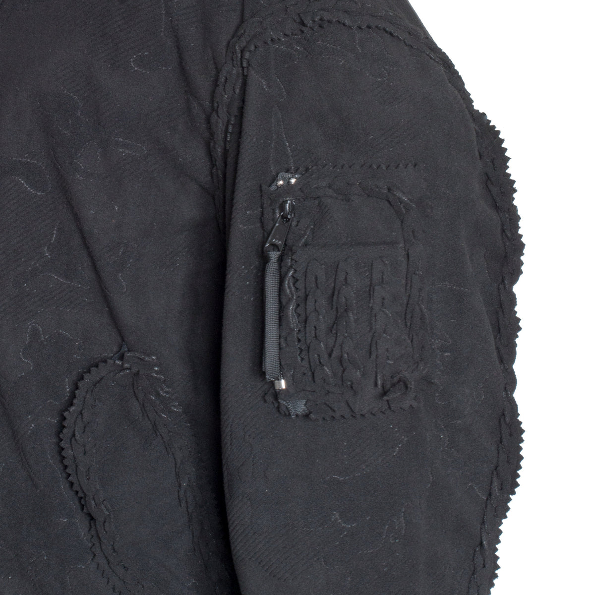 Self-Assembly Double Fleece Bomber Jacket pocket detail