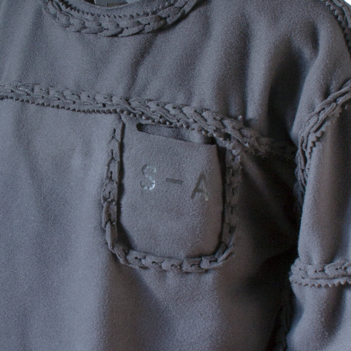 Self-Assembly Panel Sweatshirt pocket detail