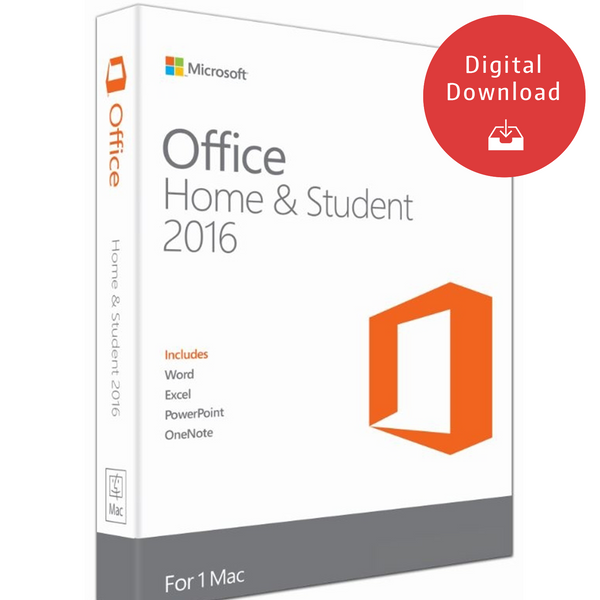 Microsoft Office For Mac - Home And Student 2016