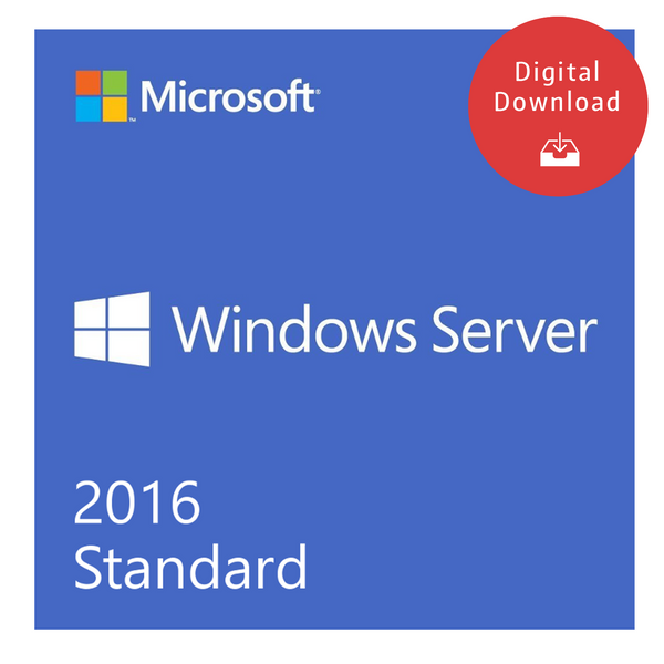 Windows Server 2016 Standard OEI - 16 Core Instant License