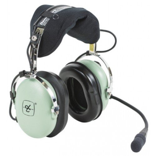 DAVID CLARK HEADSET FOR HELICOPTER/M-7A AMPLIFIED ELECTRET MIC/COIL CORD/U-174/U PLUG/FLEX BOOM
