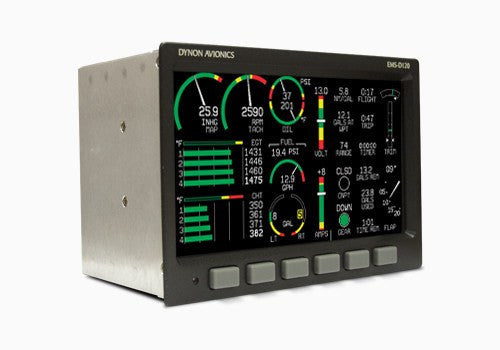 EMS-D120 is a large screen Engine Monitoring System (EMS)