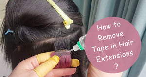 How to Remove Tape in Hair Extensions?
