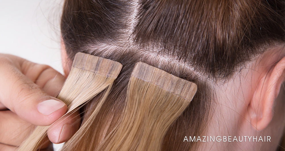 Tape in Hair Extensions Image