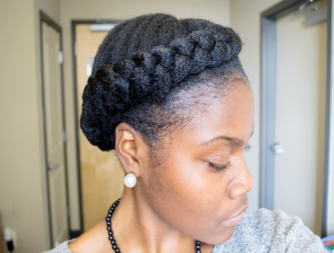 4C Hair Crown Braids