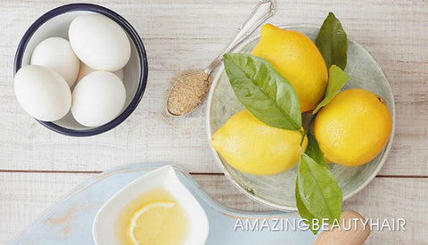Egg and Lemon combo hair mask