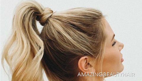 A wrap around ponytail