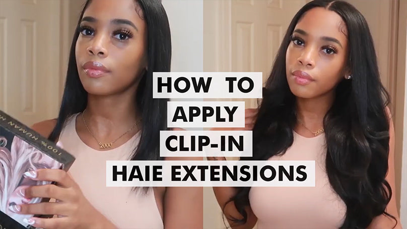 how to apply 160g Highlights 4/27# Clip In Hair Extensions