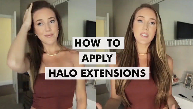 how to apply 20 Inch Hair Extensions | Halo Hair Extensions