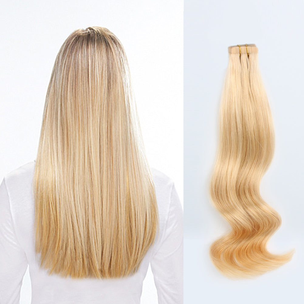 Tape In Hair Extensions 16 Golden Blonde