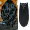 160g clip in hair extensions jet black #1|var-31950187954248