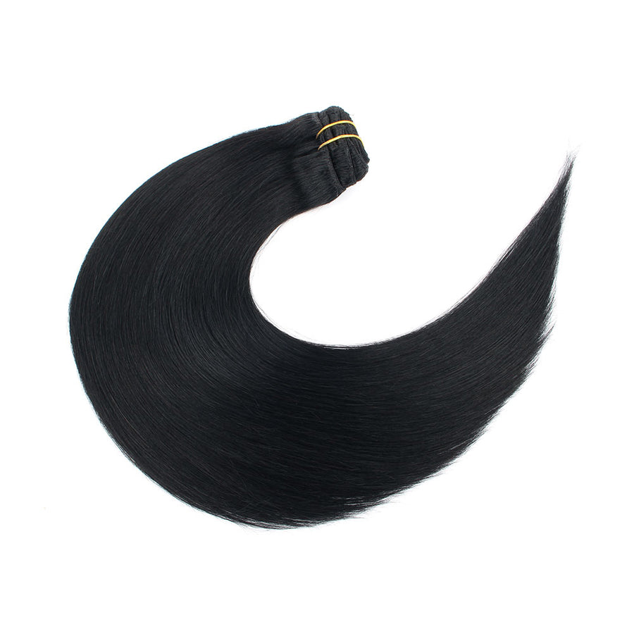 160g Jet Black 1# Clip In Hair Extensions 20""