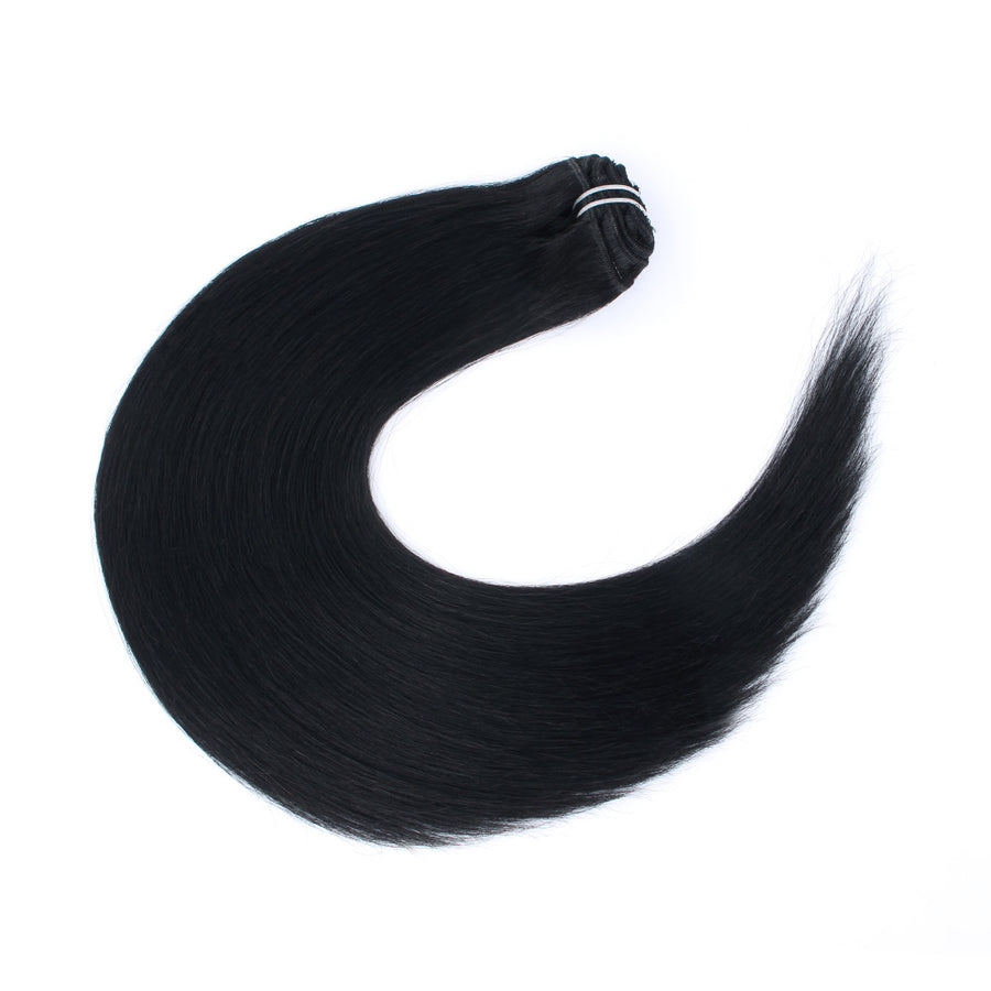 140g Jet Black 1# Clip In Hair Extensions 20""