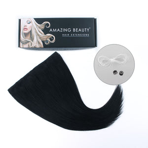 Halo hair extensions #1 jet black|var-31556153245768