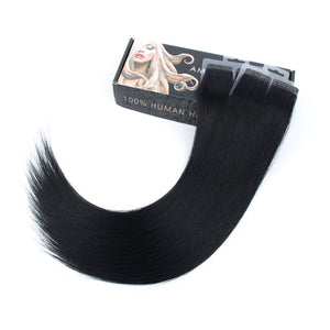 Virgin tape in hair extensions #1 jet black|var-31551776325704