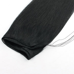 Jet Black (#1) Hand Tied Hair Extensions