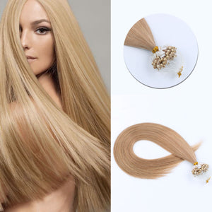Micro Ring Hair Extensions #12 Golden Brown