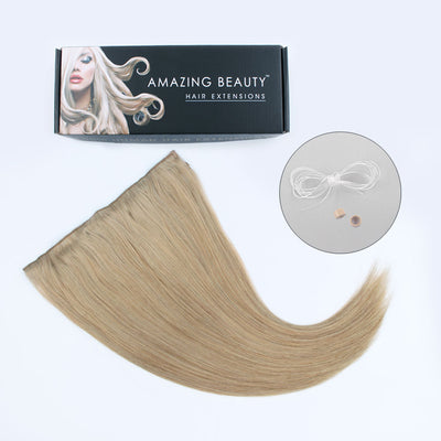 Halo Hair Extensions 12# Light Golden Brown