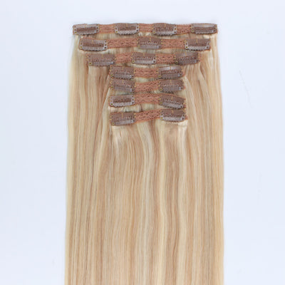 140g Highlights P18/613# Clip In Hair Extensions 20""