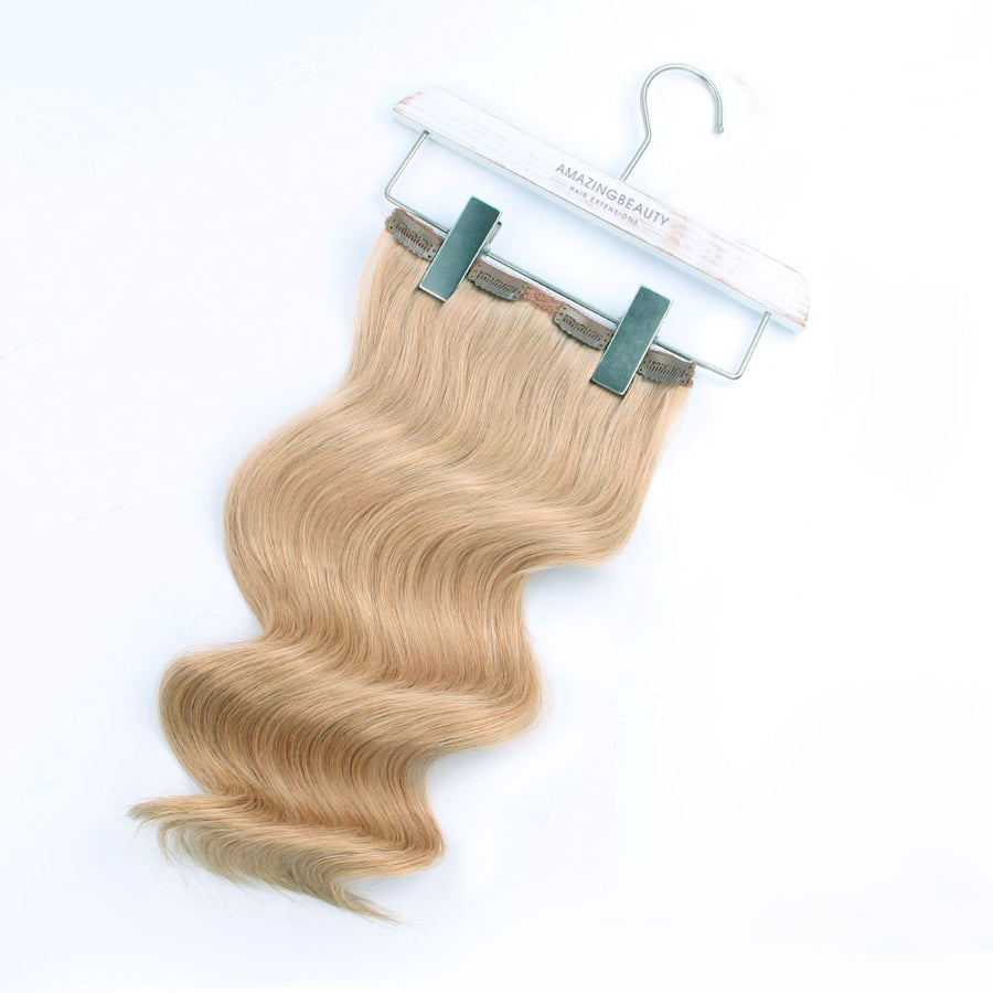140g Dirty Blonde 18# Clip In Hair Extensions 20""