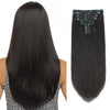 160g clip in hair extensions off black #1B|var-31950190280776