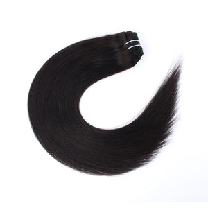120G Off Black #1B Clip in Hair Extensions