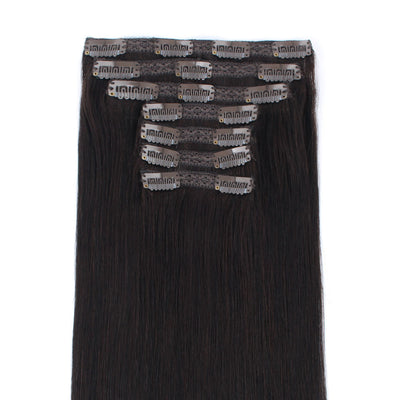 140g Off Black 1B# Clip In Hair Extensions 20""