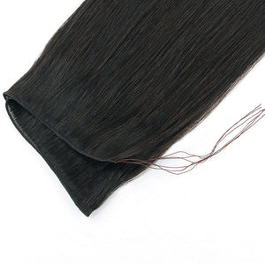 Off Black (#1B) Hand Tied Hair Extensions