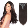160g clip in hair extensions dark brown #2|var-31950195392584