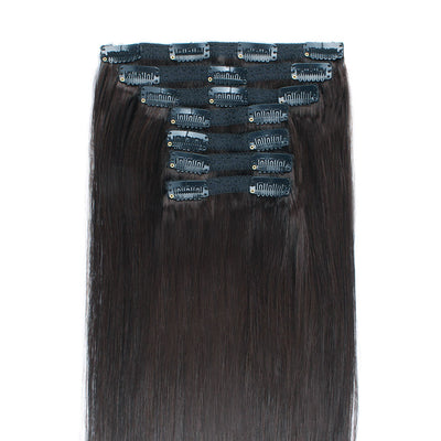 140g Dark Brown 2# Clip In Hair Extensions 20""