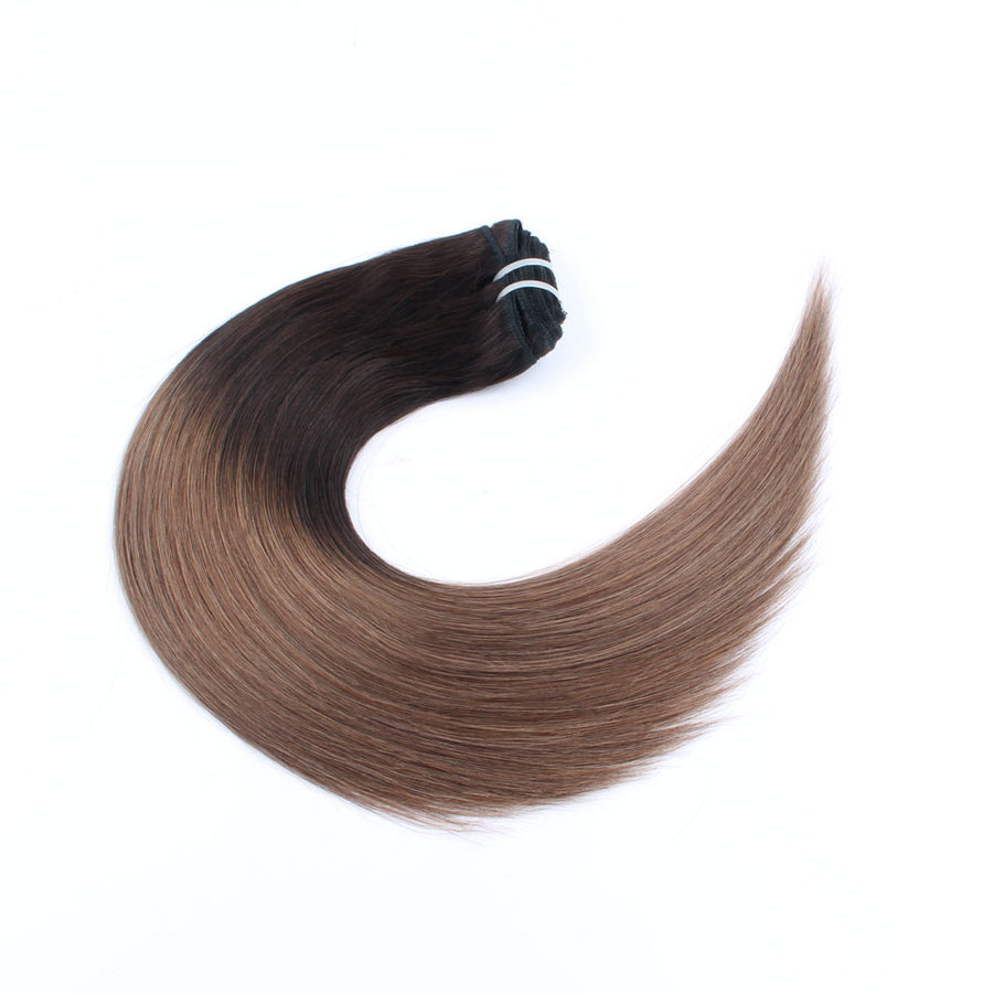 140g Ombre T2/6# Clip In Hair Extensions