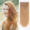 160g clip in hair extensions strawberry blonde #27|var-31950206632008